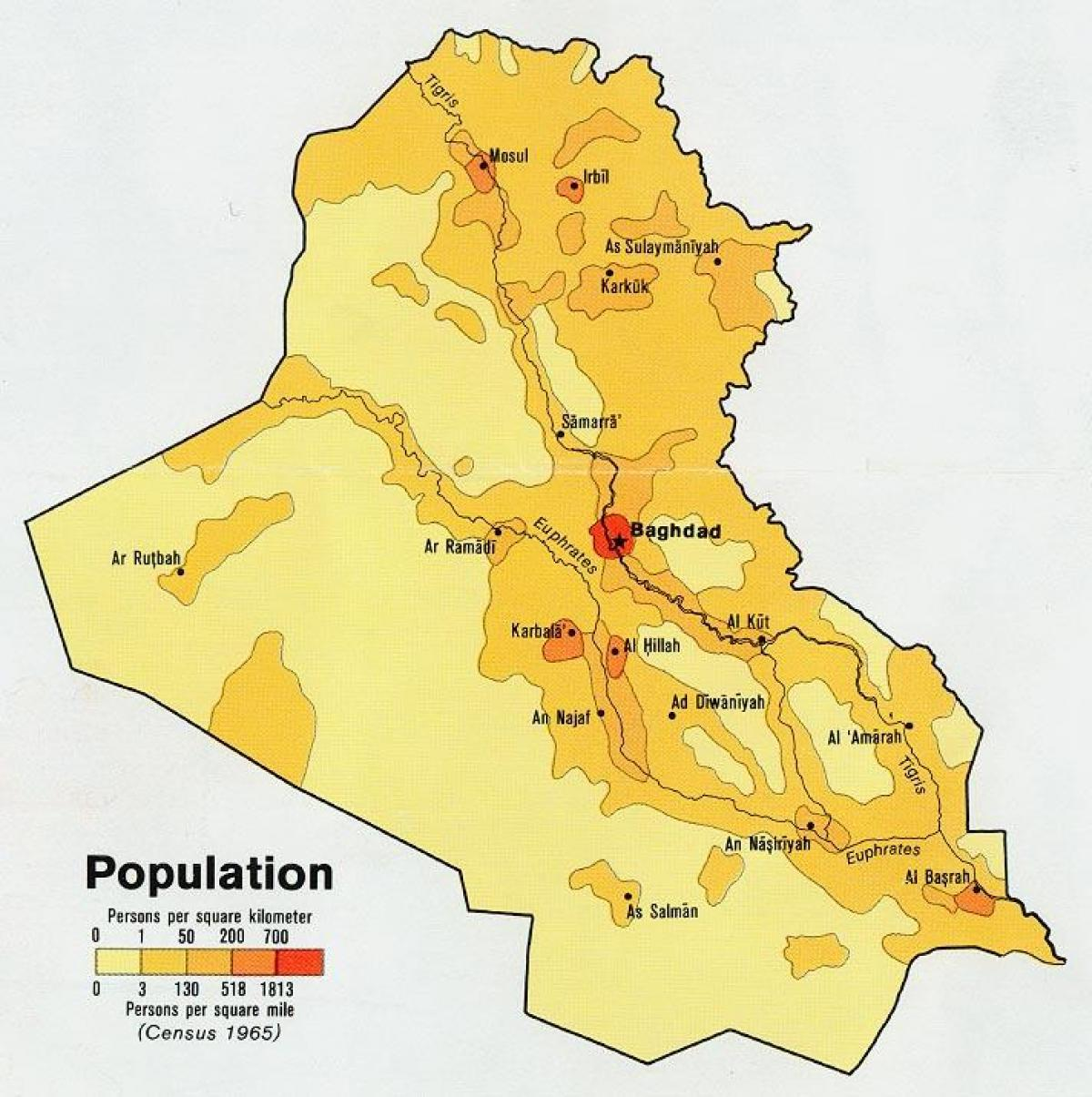 Cartina Asia Occidentale.In Iraq La Popolazione Sulla Mappa Mappa Dell Iraq Popolazione Asia Occidentale Asia